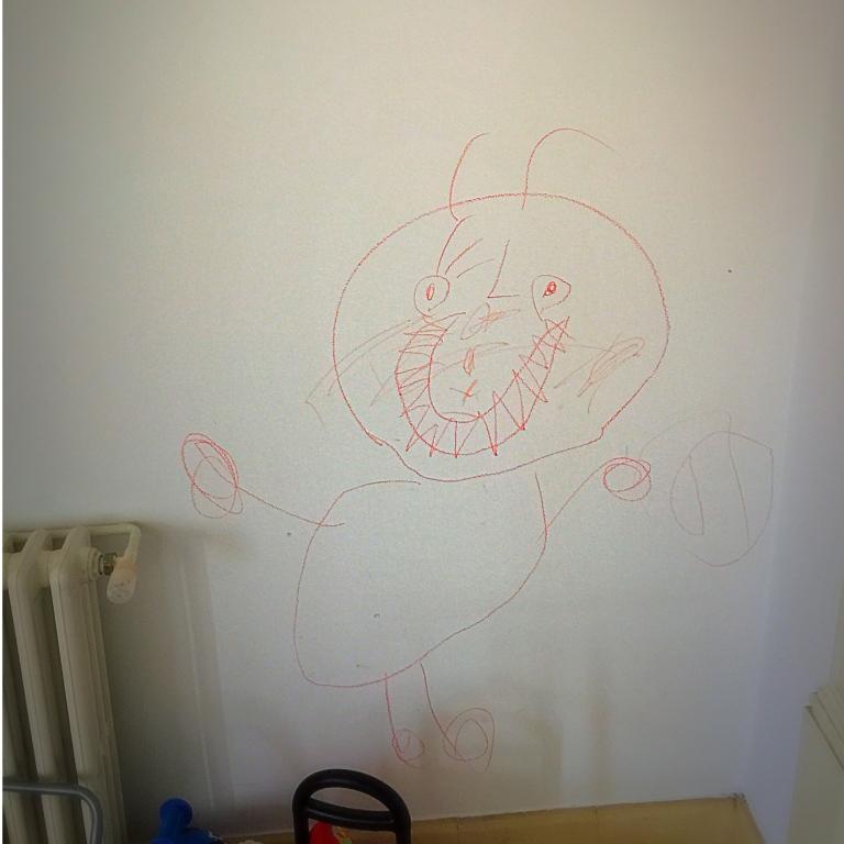 Nótese la enormidad del dibujo por comparación con el radiador